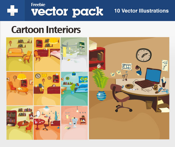 Download my Cartoon Interiors for FREE:)