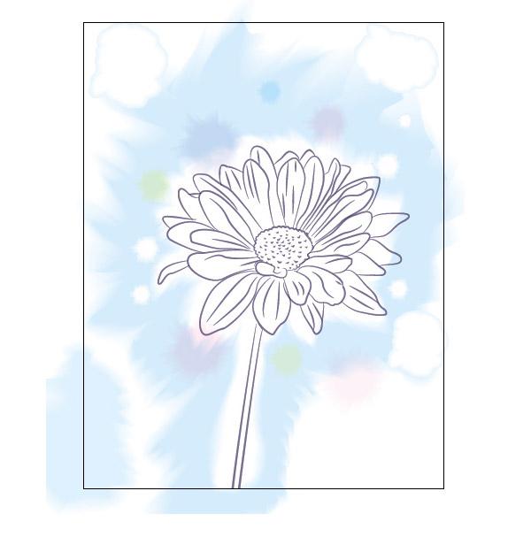 """水彩画花从-新建图层,命名:""""花朵颜色"""".把它置于""""花朵轮廓""""图层之下,锁"""
